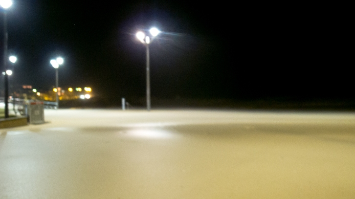 sand on the footpath at Maroubra Beach in the storm